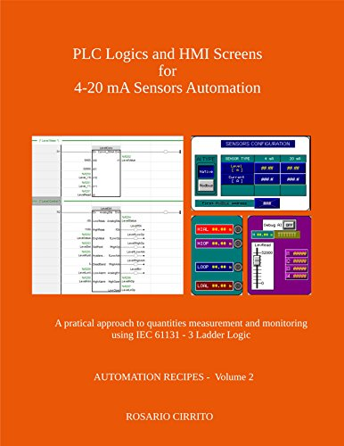 PLC Logics and HMI Screens for 4-20 mA Sensors Automation: A pratical approach to quantities measurement and monitoring using IEC 61131 - 3 Ladder Logic (AUTOMATION RECIPES Book - Sensor 20