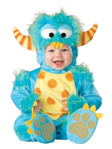 [InCharacter Unisex Baby Monster Costume, Blue/Yellow/Orange, Small] (Halloween Costumes Infant Boy)