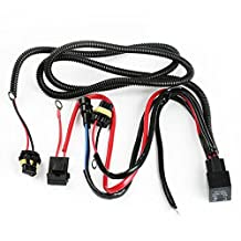 iJDMTOY 9005 9006 H10 9145 HB3 HB4 HID Conversion Kit Relay Wire Harness Adapter Wiring Kit