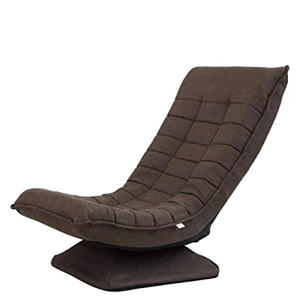 Living Room Furniture 360 Degree Swivel Folded Video Game Chair Floor Lazy Man Sofa Chair With Leather And Mesh Fabric Upholstery Armchair Living Room Furniture