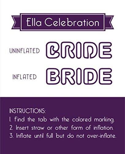 Ella Celebration Bride Letter Balloons Rose Gold Large Helium Balloon Letters, Big 35 Inch