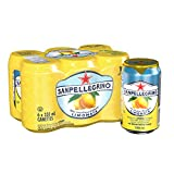 San Pellegrino Sparkling Fruit Beverages, Limonata/Lemon, 330ml Cans (Pack of 24)
