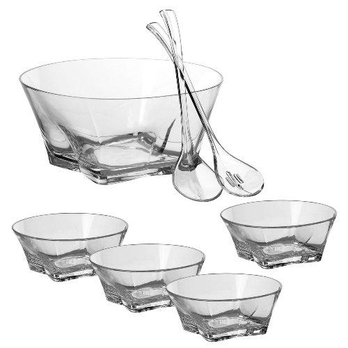 [CreativeWare Atlantis Unbreakable 7 Piece Salad Bowl Set] (Polycarbonate Salad Bowl)