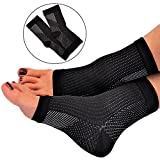Plantar Fasciitis Socks for Women and Men by RiptGear - 1 Pair of Plantar Fasciitis Sleeves for Heel and Foot Pain - Plantar Fasciitis Compression Sock with Ankle Compression and Arch Support - Large