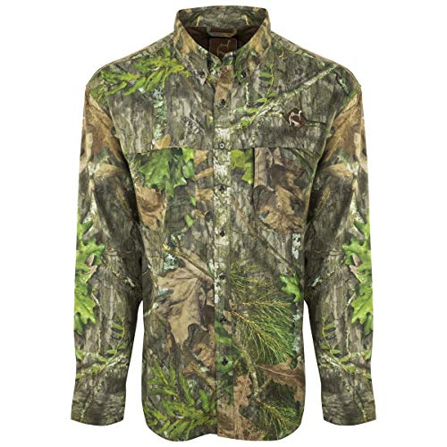 Ol' Tom Mens Mesh-Back Flyweight Shirt with Spine Pad (Mossy Oak Obsession, Size : 3XL)