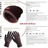 HINDAWI Winter Slouchy Beanie Gloves Women Knit Hats Skull Caps Touch Screen