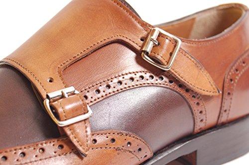 Antica Calzoleria Campana Schuhe | Mod. 10167 | Monkstrap | Kalbsleder | braun (bicolor) Braun (bicolor)
