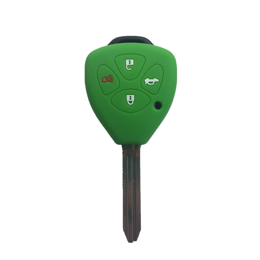 A Pair New Remote Keyless Key Shell Case Fob fit for TOYOTA Camry Avalon Corolla Matrix RAV4 Venza Yaris 4 Buttons Ezzy Auto
