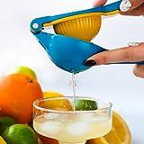 ◀️ Closeout Sale ▶️ Lemon / Lime Squeezer   Handheld Citrus Press   Manual Juicer, Blue / Yellow