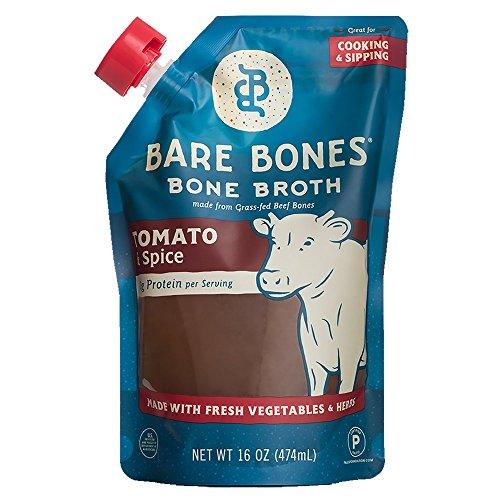 Bare Bones - 100% Grass-Fed Beef Bone Broth Tomato & Spice - 16 fl. oz.