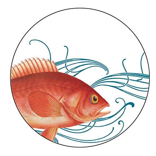 Caskata Studio Melamine Dinner Plate, Fish
