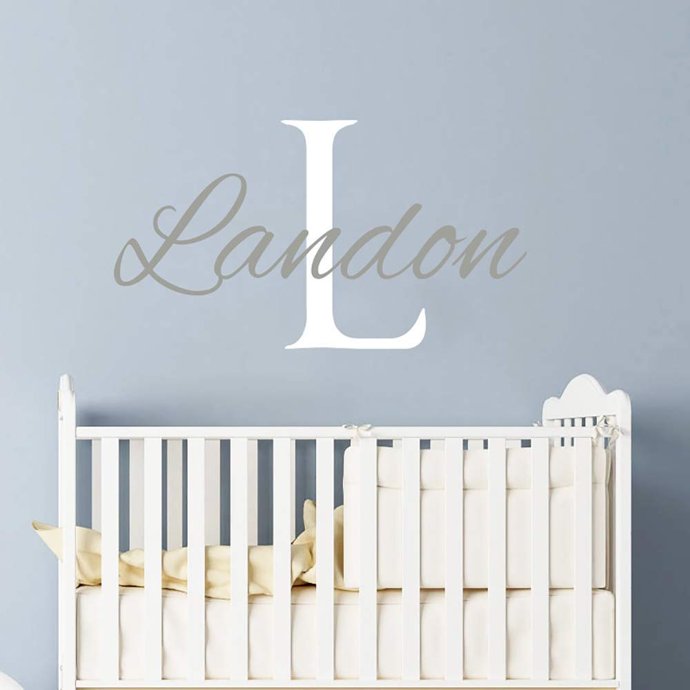 Boys Personalized Name Wall Decal Teen Decor Monogrammed Vinyl Wall Lettering Boys Room Decor Baby Nursery