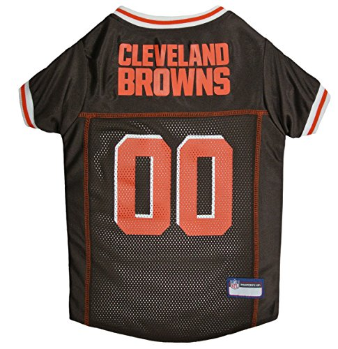 Cleveland Dog Collar Browns (Pets First NFL CLEVELAND BROWNS DOG Jersey, X-Large)