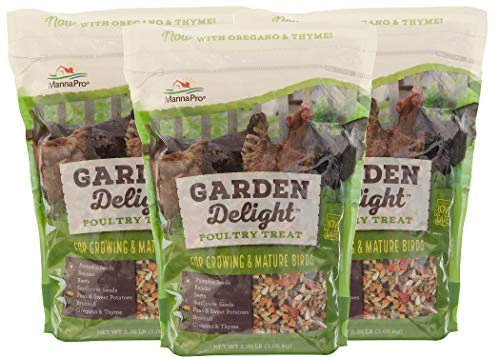 - Manna Pro Garden Delight Poultry Treat, 2.25 Pounds (Pack of 3)