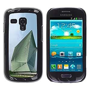 PC/Aluminum Funda Carcasa protectora para Samsung Galaxy S3 MINI NOT REGULAR! I8190 I8190N Architecture Abstract Building / JUSTGO PHONE PROTECTOR
