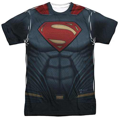 Batman vs. Superman- Superman Uniform Costume T-Shirt Size