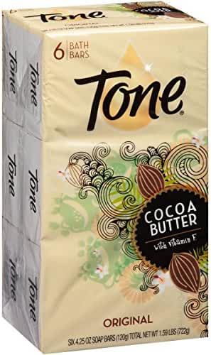 Tone Bath Bars with Cocoa Butter and Botanicals, Original Scent, 6 Bar- 4.25 oz bars Total 722g