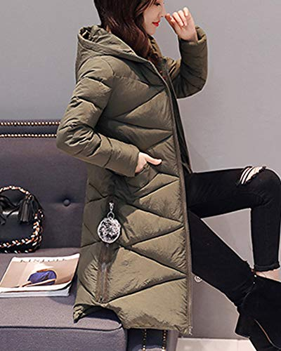 Army Capispalla Down Warm Overcoat Women Winter Jacket Parka Shaoyao Long Coat Green Addensare Imbottito A7gwq