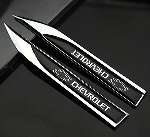 2pcs Auto car Dagger Fender Emblem Sticker Badge Decal fit for Racing sports CHEVROLET ()
