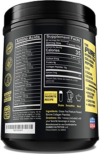 2 Premium Hydrolyzed Collagen Peptides Cattle%EF%BD%9CUnflavored