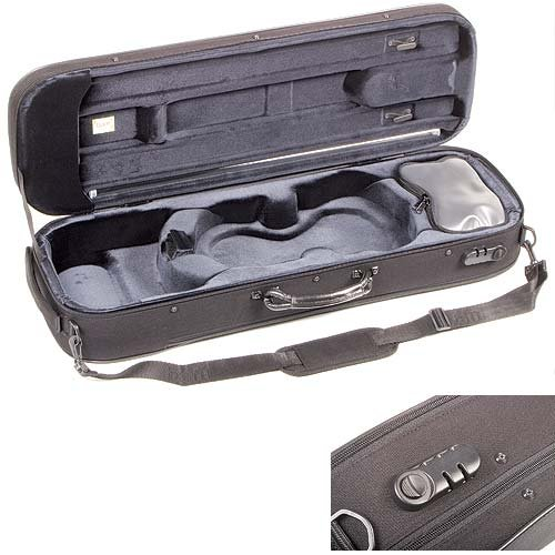 Bam Stylus 5001S 4/4 Violin Case with Black Exterior and Silver Interior by Bam France (Image #1)