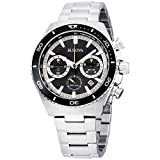 Bulova High Frequency Quartz Chronograph Silver Tone Men's Watch 98B298