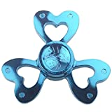 Restless mind and fidgety hands? This spinner is the solution!   How to use Simply hold this spinner in one hand then use your other hand to spin it rapidly using small continuous strikes to keep it spinning indefinitely. It'll take a little bit of p...