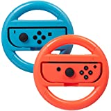 AmazonBasics Steering Wheel for Nintendo Switch - Blue/Red (2 Pack)