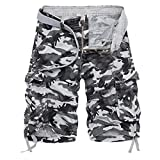 Perman Cheap Mens Shorts, 2018 New Summer Work Multi-Pocket Camouflage Military Casual Cargo Shorts