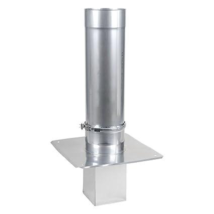 Schornsteinverl/ängerung einwandig 0,5 mm DN 120 1000 mm