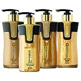 Keratin Cure Best Treatment Gold & Honey V2 Lgel 10 Oz 4 Piece Kit Intensive Extracts Professional Complex (4 pc/10 FL OZ)