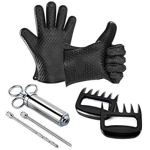 Sillicon Gloves Shredder Seasoning Injector