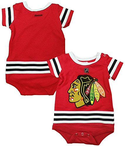 575fdec7c Outerstuff Chicago Blackhawks Baby/Infant Hockey Jersey Style Creeper 18  Months