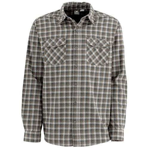Rock Plaid Shirt - White Sierra Coyote Ii Plaid Shirt, Castle Rock, Large
