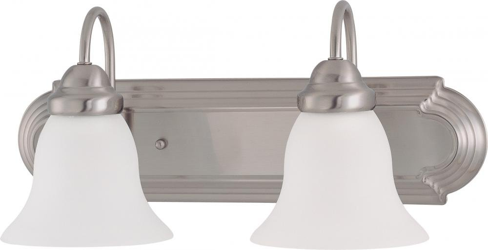Nuvo Gothamシャンデリア 2-Light 60/3278 1 B003682WPY Brushed Nickel / Frosted Glass|2ライト バニティー Brushed Nickel / Frosted Glass