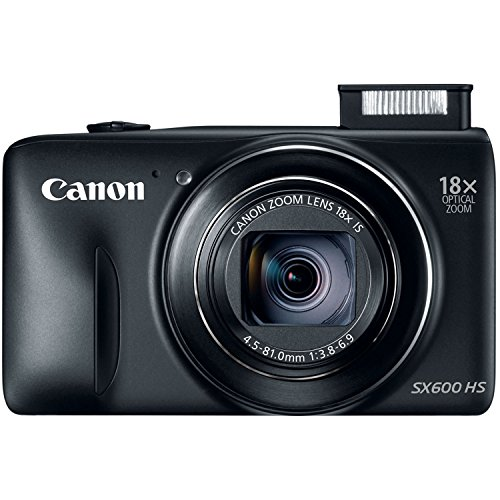 Canon PowerShot SX600 HS 16MP Digital Camera (Black)