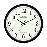 La Crosse Technology WT-3143A-INT 14-Inch Atomic Wall Clock, Black (Kitchen)