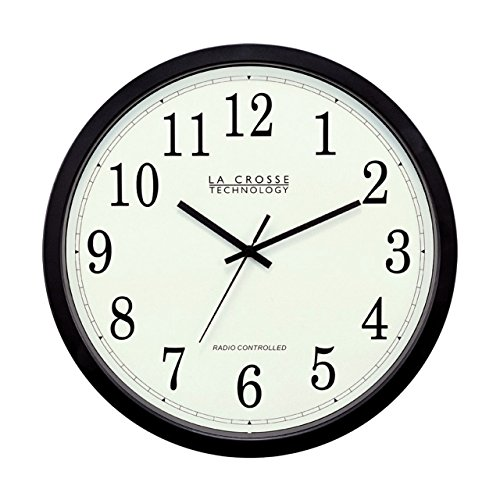 La Crosse Technology WT-3143A-INT 14-Inch Atomic Wall Clock, Black (Lacrosse Technology Wall Clock)
