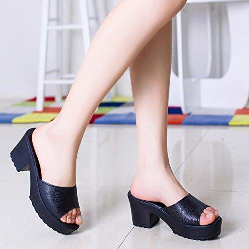Wedges Frauen Flop High Damen Schwarz Hunpta Heels weiche Mode Flip Plattform Sandalen Bnd1n0wqpU