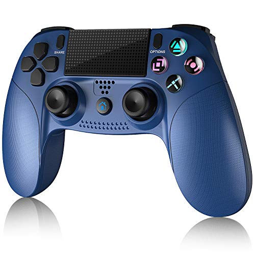 Gamory Wireless Controllers for PS4, Wireless Game Controller for PlayStation 4/Pro/Slim/PS3 Joystick Gamepad with Touch Panel Six-axis Dual Vibration Shock and Audio