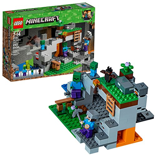 LEGO Minecraft The Zombie Cave 21141 Building Kit (241 - 9 Set Piece Figure