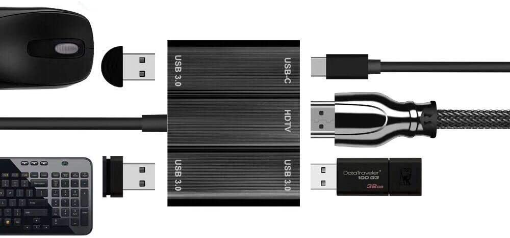 USB C HDMI HUB,5 in 1 Type C to HDMI USB PD Adapter,3 USB 3.0+HDMI+PD Charger Adapter