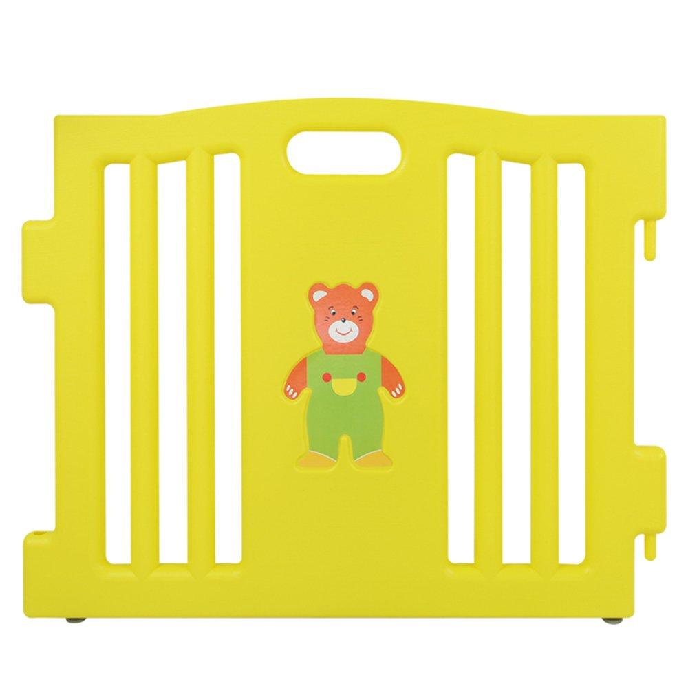 BEBEHUT/® Parc b/éb/é Parc pour b/éb/é Parc de jeux pour b/éb/é Barri/ère de s/écurit/é Grille de s/écurit/é Mati/ère plastique 3801-D02 JBW08 rose//jaune//pourpre