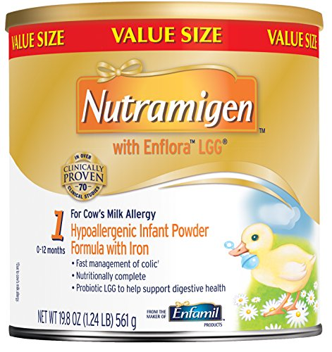 Nutramigen with Enflora LGG Baby Formula - 19.8 oz Powder Can (Pack of 4)