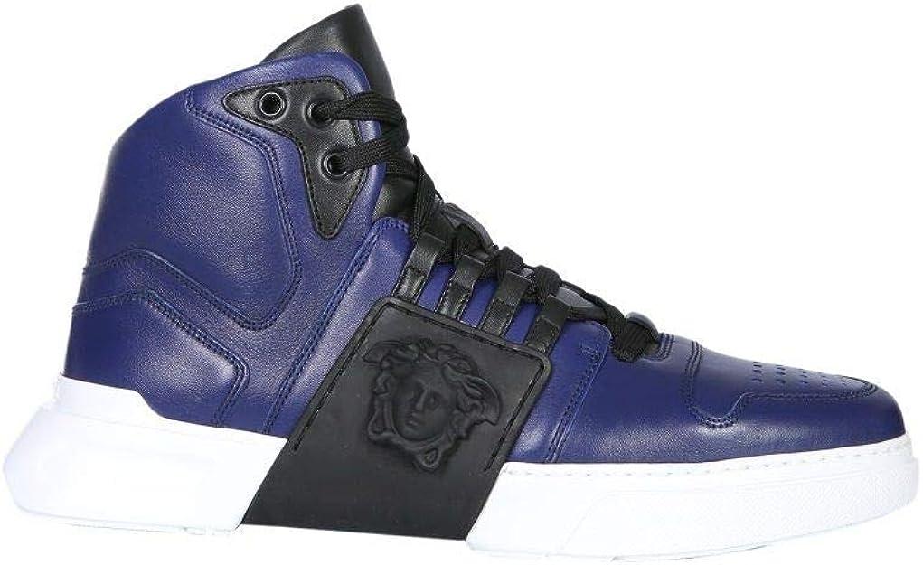 Versace Luxury Fashion Herren DSU6723DVTG3GD7PNE Blau Leder