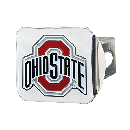 CC Sports Decor NCAA Ohio State University Buckeyes Color Class III Hitch - Chrome Hitch Cover Auto Accessory