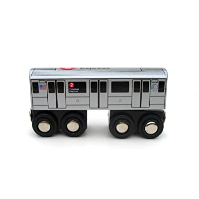 Munipals MP01-1102 Wooden Subway Train New York City MTA NYC-2 7th Avenue Express: Toys & Games