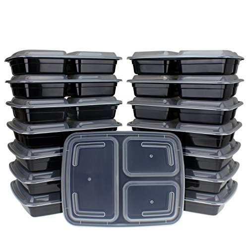Freshware 150 Pack Compartment Bento Lunch