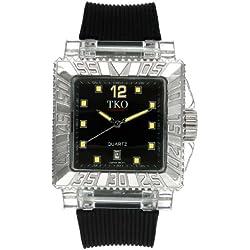 TKO ORLOGI Men's TK601-BY Coliseum Plastic Case and Rubber Strap Watch