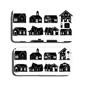 House real estate icons set cell phone cover case iPhone6 Plus